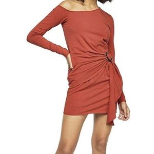 Free People Frankie Copper One Shoulder Dress